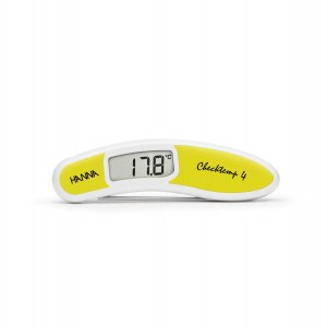 Hanna HI-151-3C Checktemp4 folding thermometer - yellow - plus case
