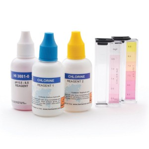 HANNA HI-3887 Free Chlorine and pH Test Kit