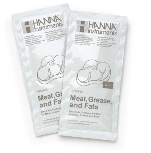HI-700630P Acid Cleaning Solution for Meat Grease and Fats, 25 x 20ml sachets