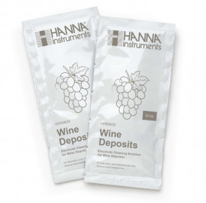 HI-700635P Electrode Cleaning Solution for Wine Deposits (Winemaking), 25 x 20 mL sachets
