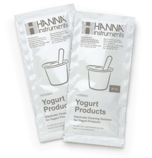 Hanna HI-700643p Cleaning Solution for Yogurt deposits 25 x 20ml sachets