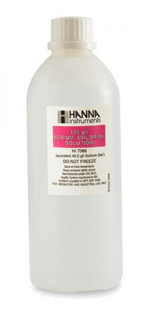 Hanna HI-7089L Standard solution at 125g/L sodium chloride, 500ml bottle
