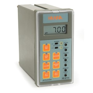 HI-8711 pH Analogue Controller with dual output and self-diagnostic test