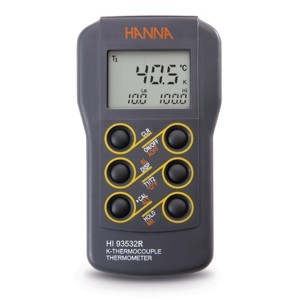 HI-93532R Dual-input, K-type Thermocouple Thermometer