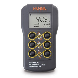 Hanna HI-93552R Dual-channel, K,J,T-type Thermocouple Thermometer