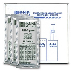HANNA HI-70442P 1500 mg/L (ppm) TDS Calibration Solution, x 25 sachets