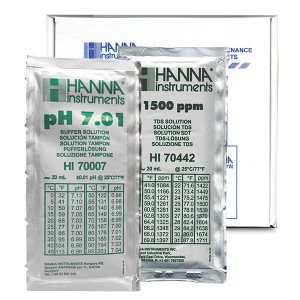 Hanna HI-77200P Combination pH/TDS Buffer Kit 1500 ppm & 7.01 pH