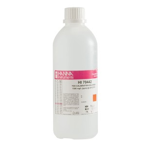 Hanna HI-70442L 1500 mg/L (ppm) TDS Calibration Solution, 500 mL bottle