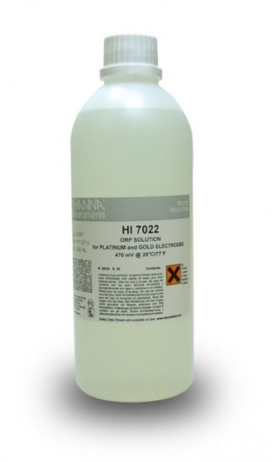 Hanna HI-7022L ORP test solution, 470mV, 500 mL bottle