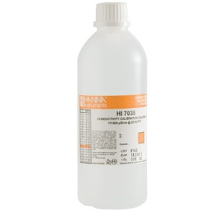 HI-7035L 111 800µS/cm Conductivity Solution, 500 mL bottle