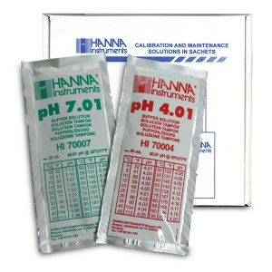 Hanna HI-77400P pH Combination Buffer Solution Kit 4.01 & 7.01 5 x 5 20ml sachets